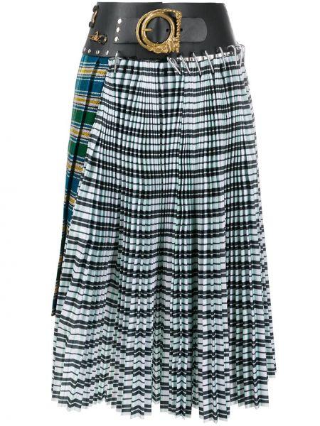 Плиссированная юбка асимметричная с цветочным принтом Chopova Lowena