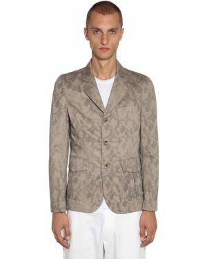 Zielona kurtka bawełniana z printem Comme Des Garcons Shirt