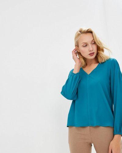 Блузка с длинным рукавом бирюзовая Trucco