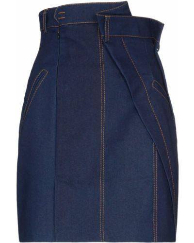 Плиссированная синяя юбка мини с карманами Situationist