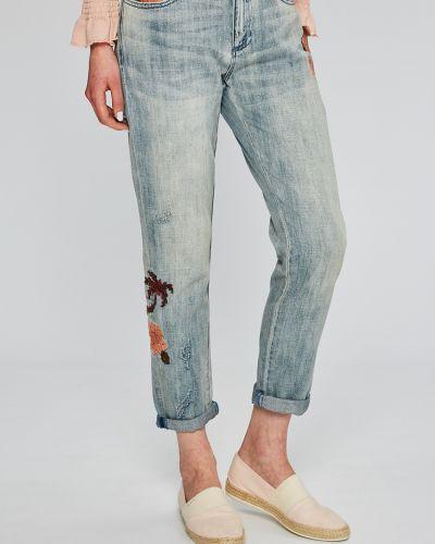 Прямые джинсы с вышивкой слим фит Scotch & Soda