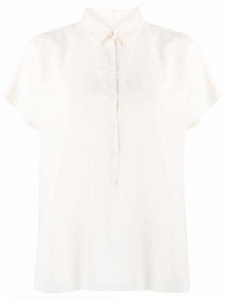 Шелковая классическая рубашка с короткими рукавами с воротником Kristensen Du Nord