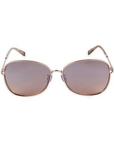 Фиолетовые солнцезащитные очки круглые очищающие Max Mara