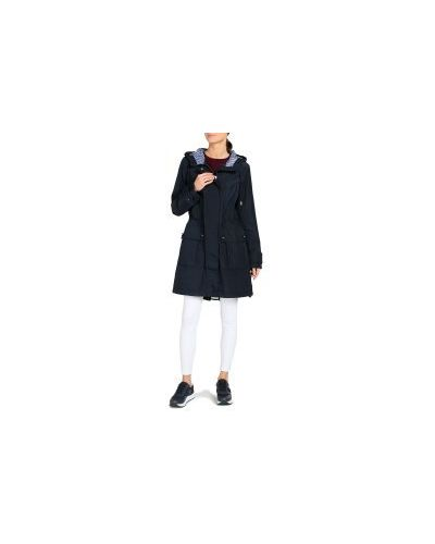 Синяя куртка с капюшоном на молнии с карманами со шлицей Tommy Hilfiger