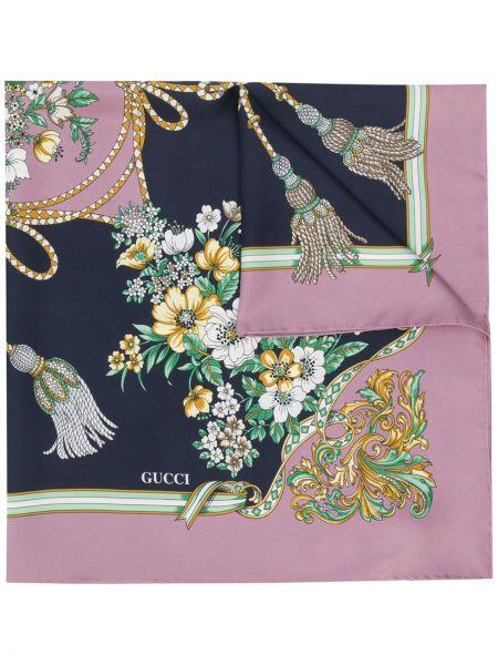 Szalik prążkowany jedwab Gucci