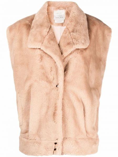 Коричневая куртка с карманами Forte Forte