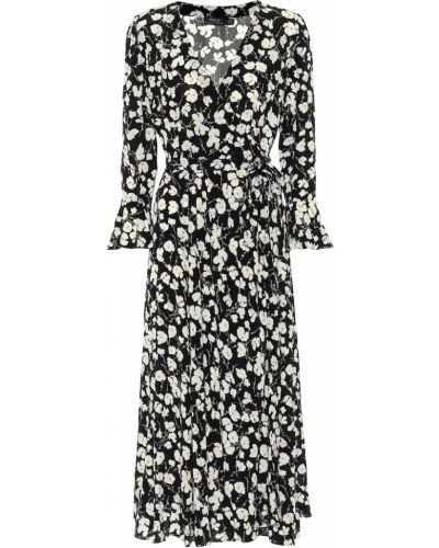 Черное платье миди из вискозы Polo Ralph Lauren