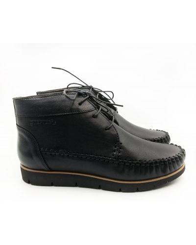 Кожаные ботинки - черные Stepter
