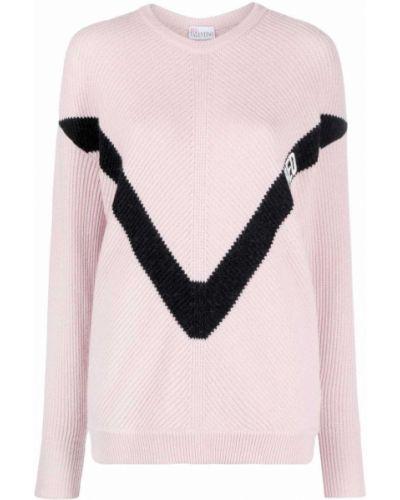 Шерстяной джемпер - розовый Red Valentino