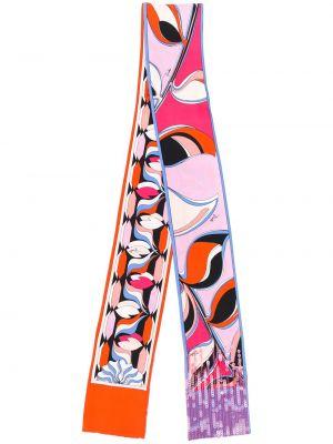 Szalik z nadrukiem z haftem Emilio Pucci