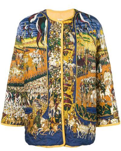 Прямая коричневая куртка Hermès Pre-owned