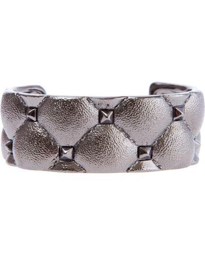 Кожаный браслет итальянский металлический Valentino