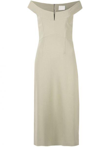 Платье миди на молнии с открытыми плечами Dion Lee