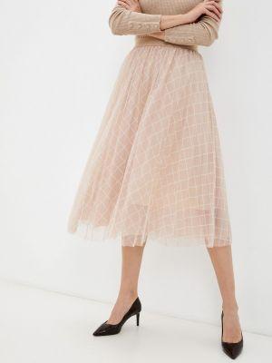Плиссированная юбка - бежевая Softy
