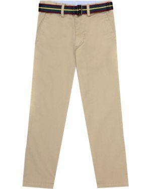 Klasyczne zielone spodnie klasyczne bawełniane Polo Ralph Lauren Kids