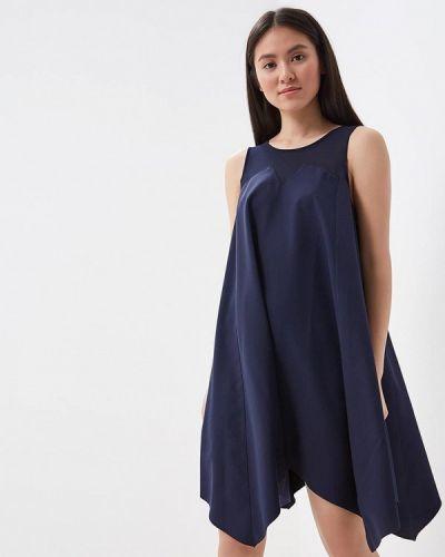 Синее платье Met