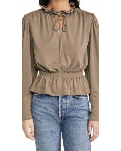 Трикотажная блузка с декольте на резинке Rebecca Taylor