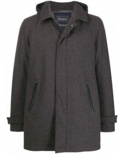 Płaszcz wełniany Herno