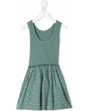 Зеленое платье с рукавами Buho