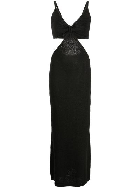 Хлопковое платье миди - черное Cult Gaia