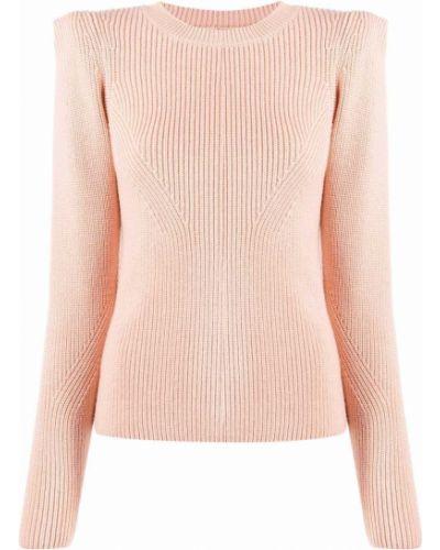 Розовая джемпер с длинными рукавами Elisabetta Franchi