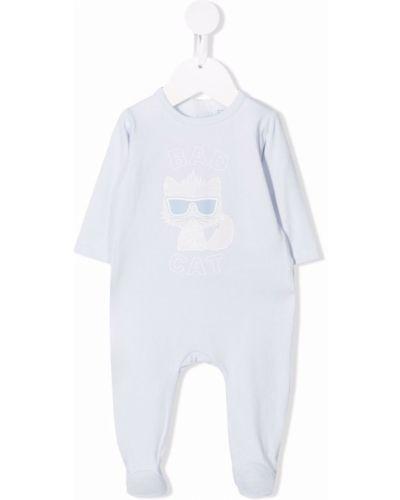 Piżama z długimi rękawami - niebieska Karl Lagerfeld Kids