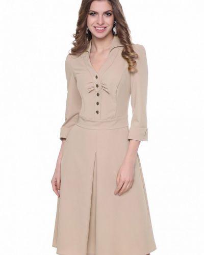 Деловое платье осеннее бежевое Olivegrey