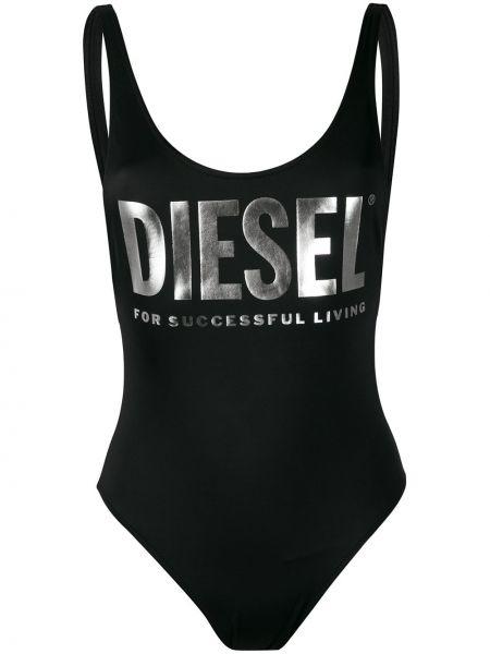 Купальник черный с вырезом Diesel