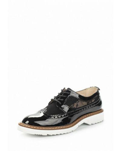 Черные кожаные ботинки Keddo