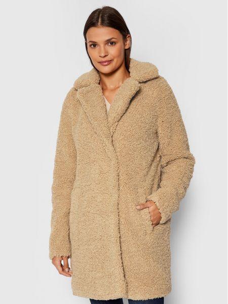 Beżowy płaszcz zimowy Noisy May