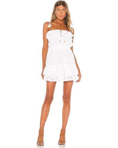 Хлопковое белое платье мини с подкладкой Karina Grimaldi