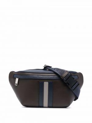Коричневая сумка с нашивками Bally