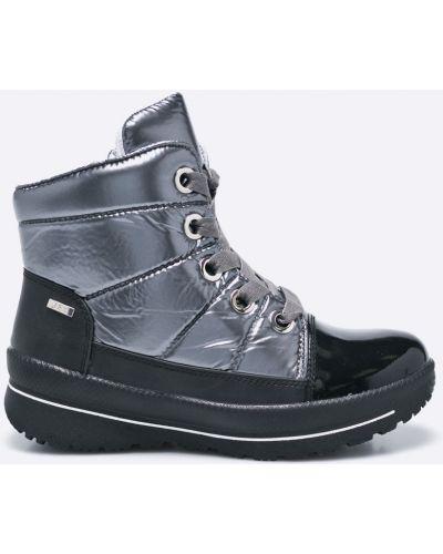 Черные сапоги на шнуровке Caprice