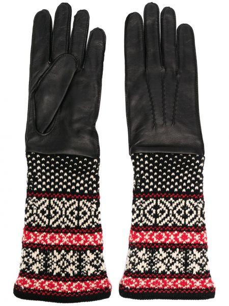 Czarne rękawiczki skorzane Yohji Yamamoto