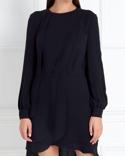 Шелковое черное платье с подкладкой Chapurin