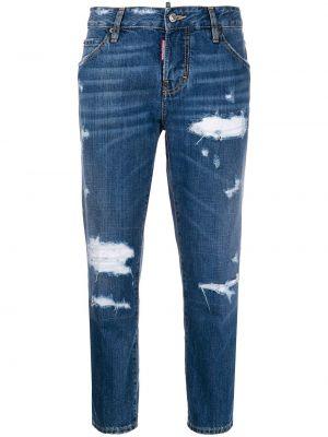 Пляжные укороченные джинсы с карманами на пуговицах Dsquared2