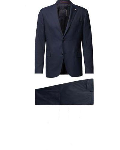 Czarny garnitur zapinane na guziki Tommy Hilfiger