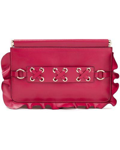Różowa złota kopertówka koronkowa Red(v)