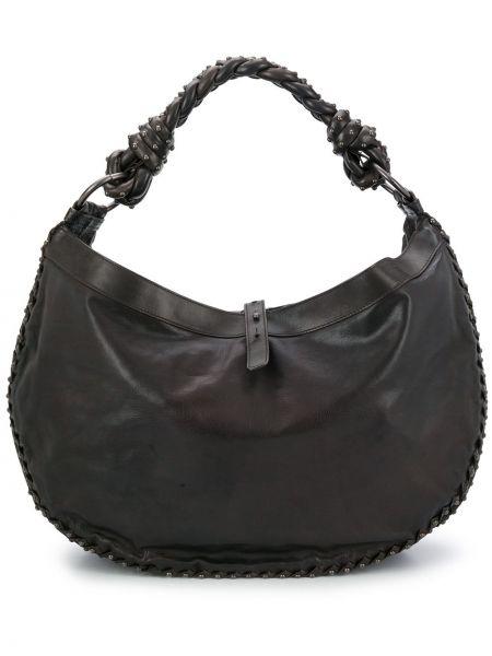 Кожаная черная кожаная сумка с заклепками Bottega Veneta Pre-owned