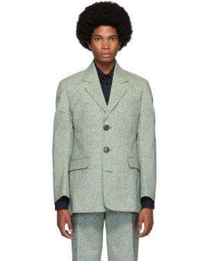 Шерстяной белый пиджак с лацканами с карманами Namacheko
