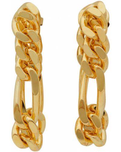 Серебряные серьги-гвоздики Bottega Veneta