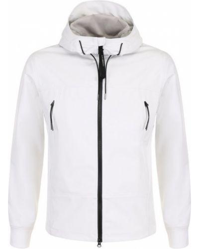 Белая куртка с капюшоном C.p. Company