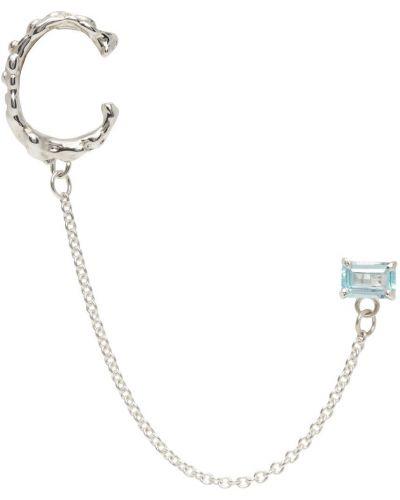 Niebieskie kolczyki srebrne Faris