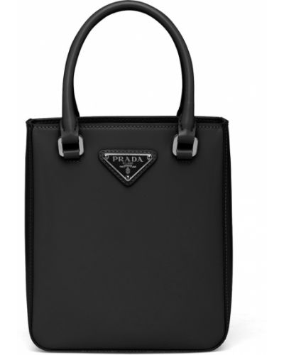 Черная сумка тоут Prada