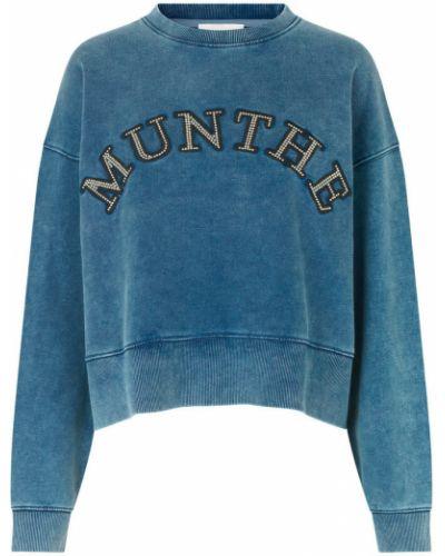 Niebieska bluza dresowa Munthe