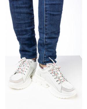 Кожаные белые кроссовки Prima D'arte