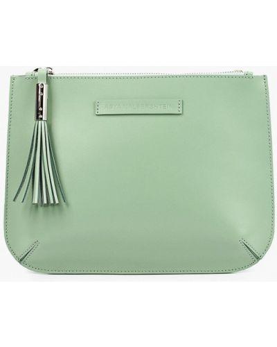 Кожаная зеленая сумка через плечо Asya Malbershtein