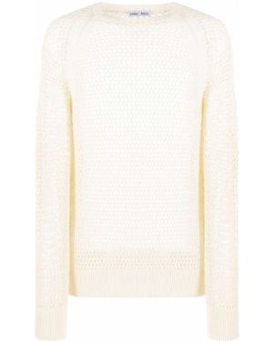 С рукавами белый свитер с манжетами с круглым вырезом Cmmn Swdn