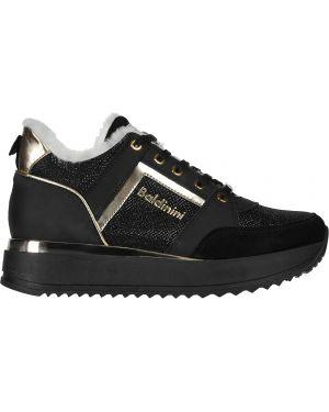 Кроссовки замшевые черные Baldinini