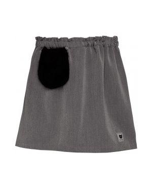 Юбка из плотной ткани серая Button Blue